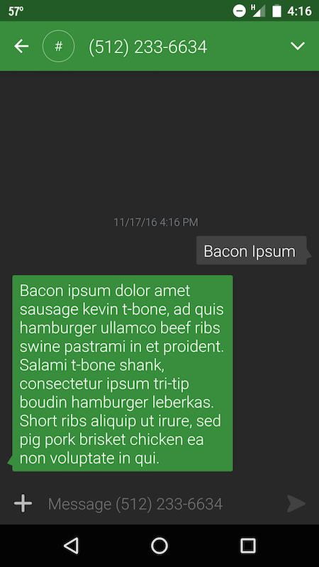bacon-ipsum-sms